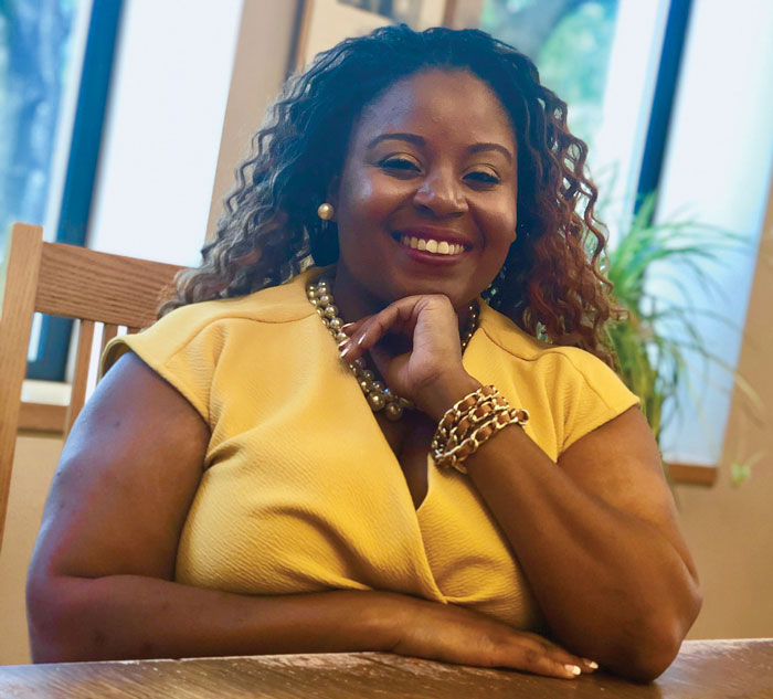 Workshop leader Ashley Lipscomb, CEO and Co-Founder of the Institute for Anti-Racist Education